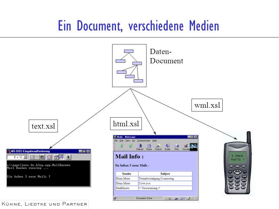 Ein Document, verschiedene Medien