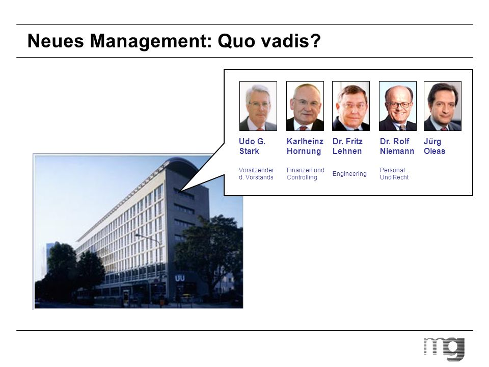 Neues Management: Quo vadis