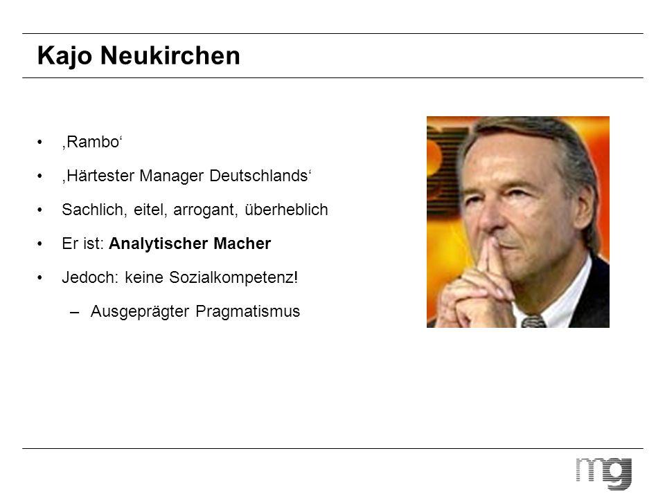 Kajo Neukirchen ,Rambo' ,Härtester Manager Deutschlands'
