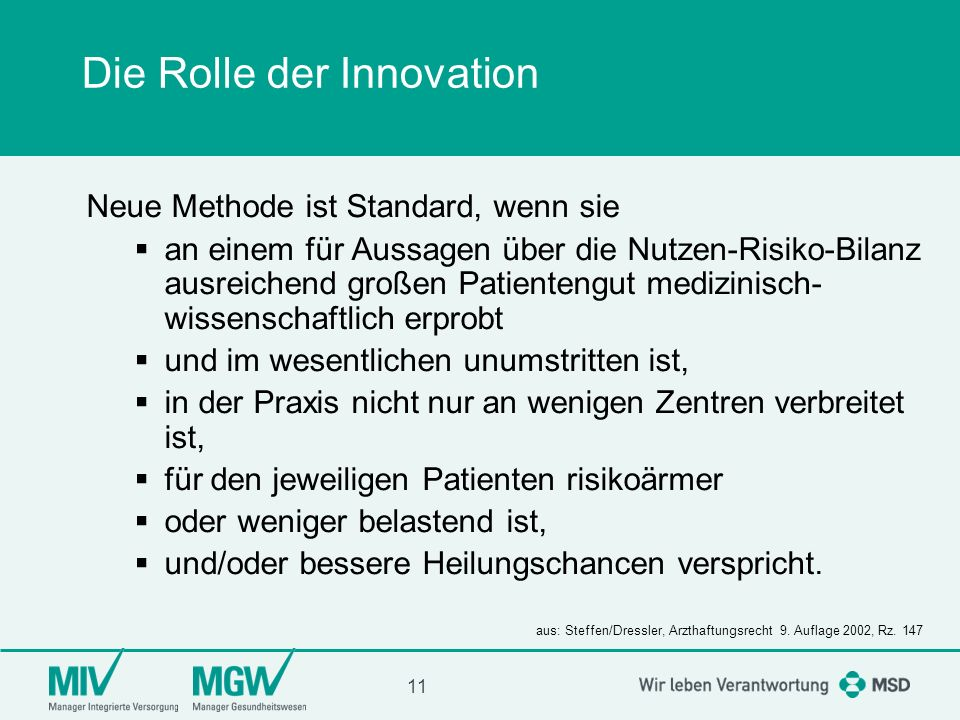 Die Rolle der Innovation