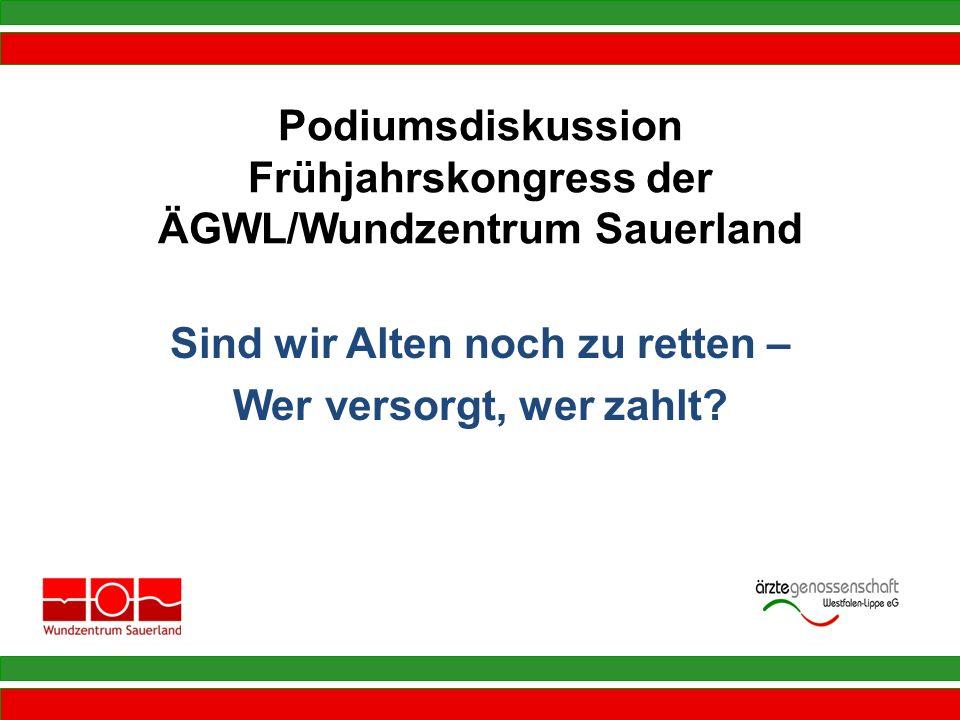 Podiumsdiskussion Frühjahrskongress der ÄGWL/Wundzentrum Sauerland