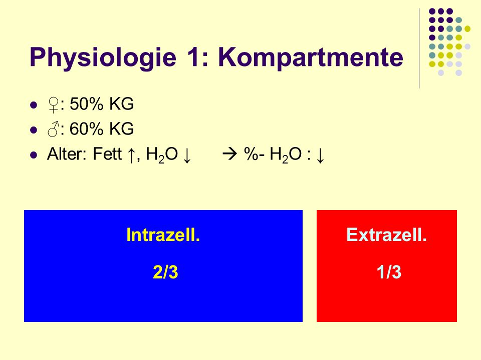 Physiologie 1: Kompartmente