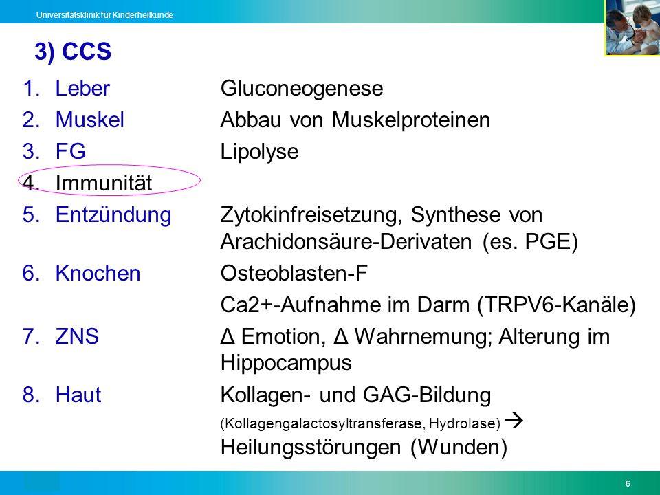 3) CCS Leber Gluconeogenese Muskel Abbau von Muskelproteinen