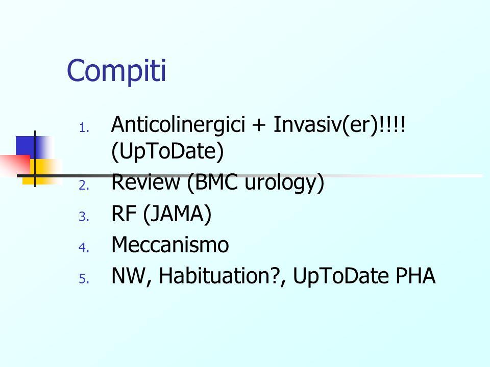 Compiti Anticolinergici + Invasiv(er)!!!! (UpToDate)