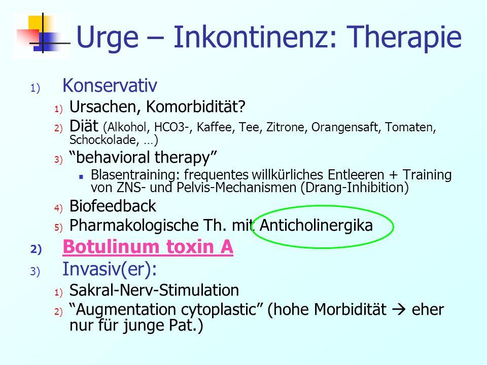 Urge – Inkontinenz: Therapie