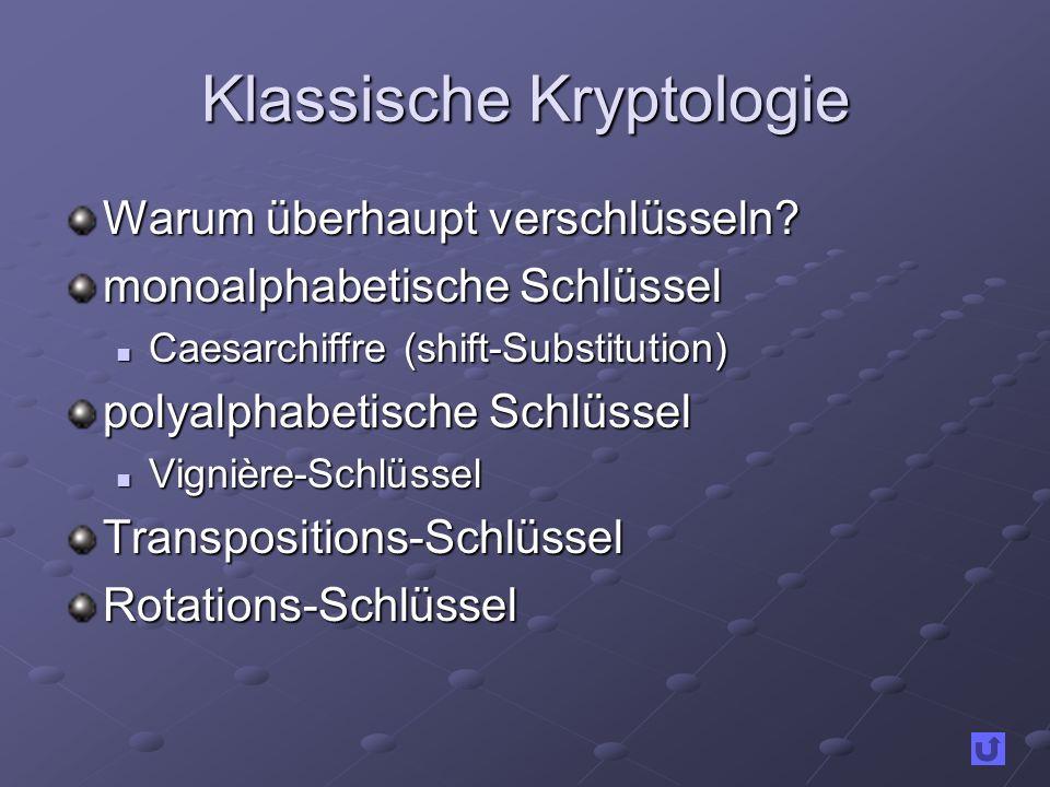 Klassische Kryptologie