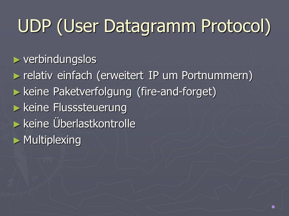 UDP (User Datagramm Protocol)