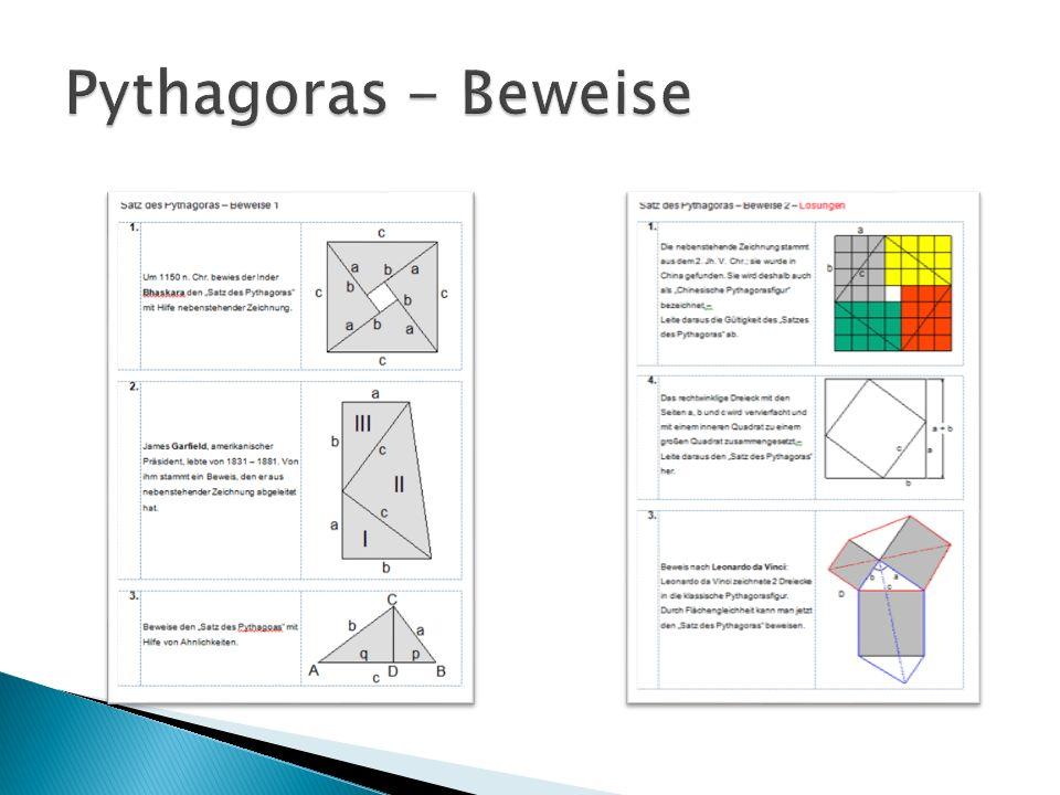Pythagoras - Beweise