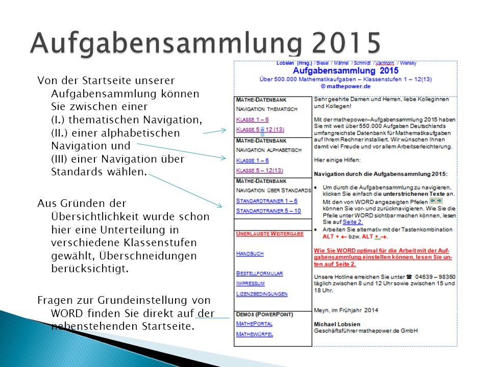 Aufgabensammlung 2015