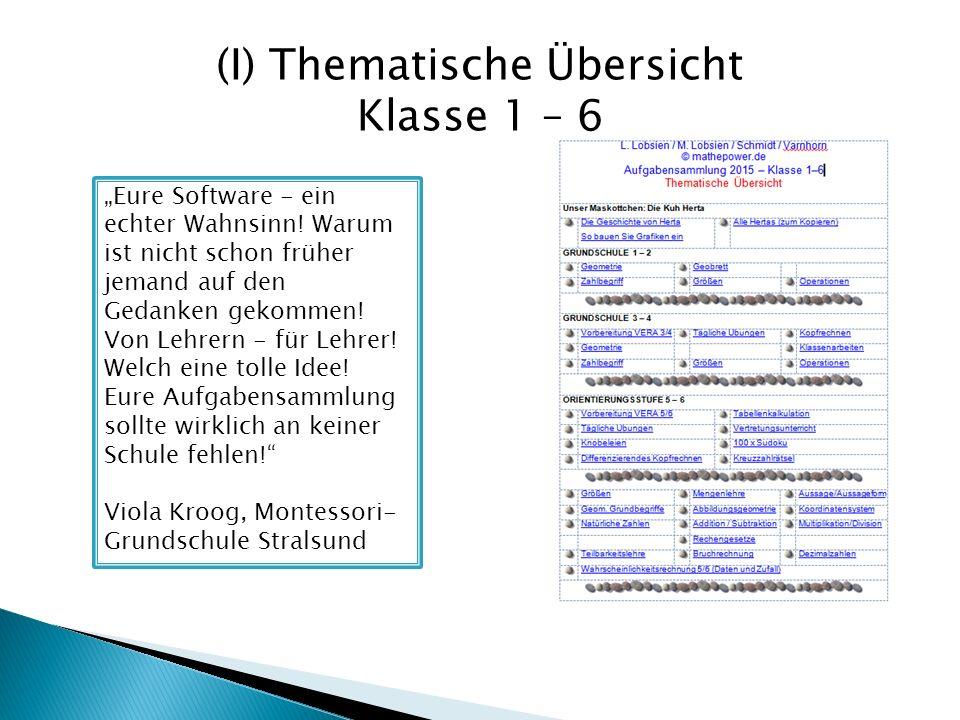 (I) Thematische Übersicht