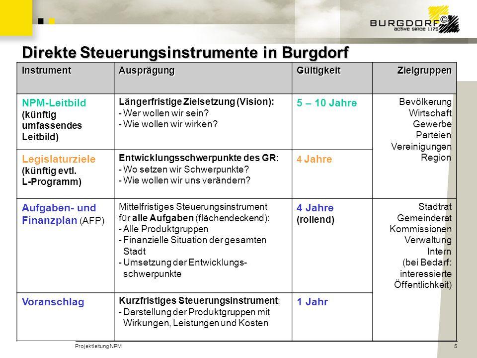 Direkte Steuerungsinstrumente in Burgdorf
