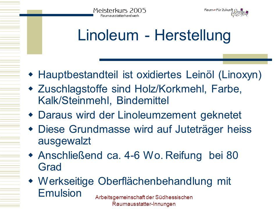 Linoleum - Herstellung