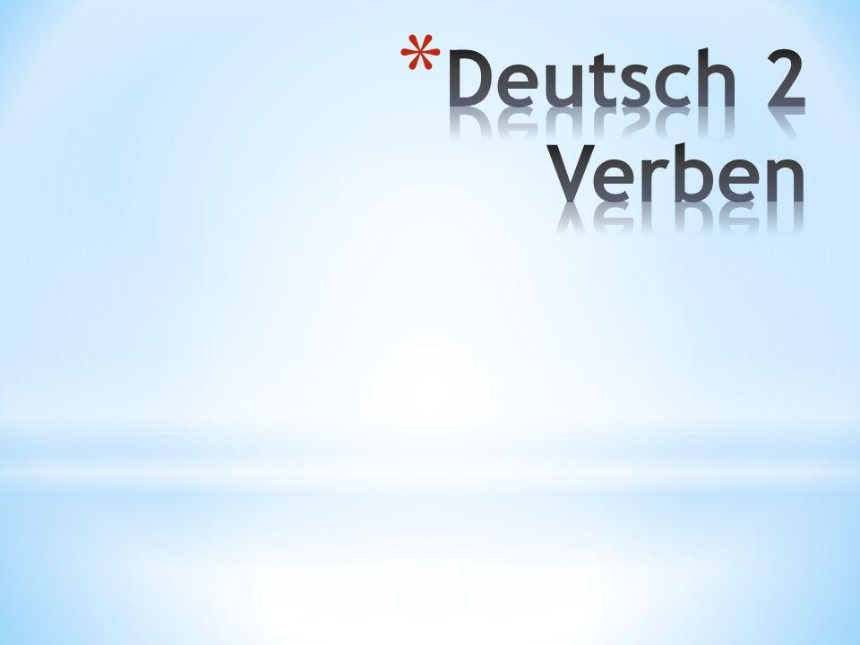 Deutsch 2 Verben