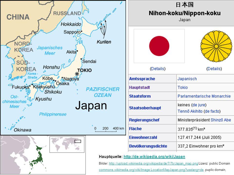 Japan Hauptquelle: http://de.wikipedia.org/wiki/Japan