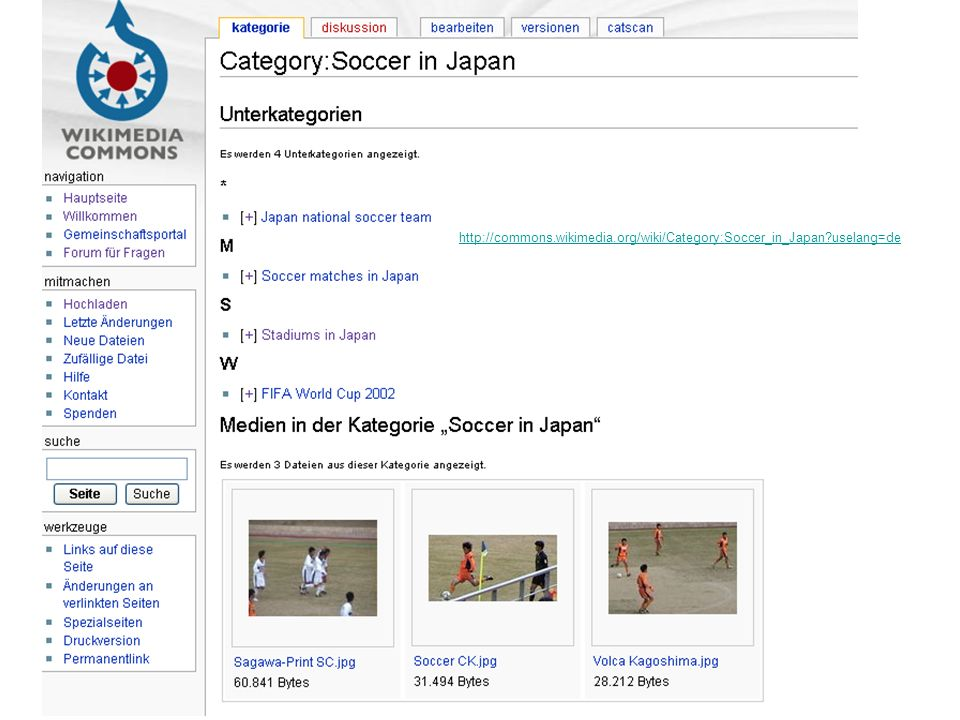 http://commons. wikimedia. org/wiki/Category:Soccer_in_Japan