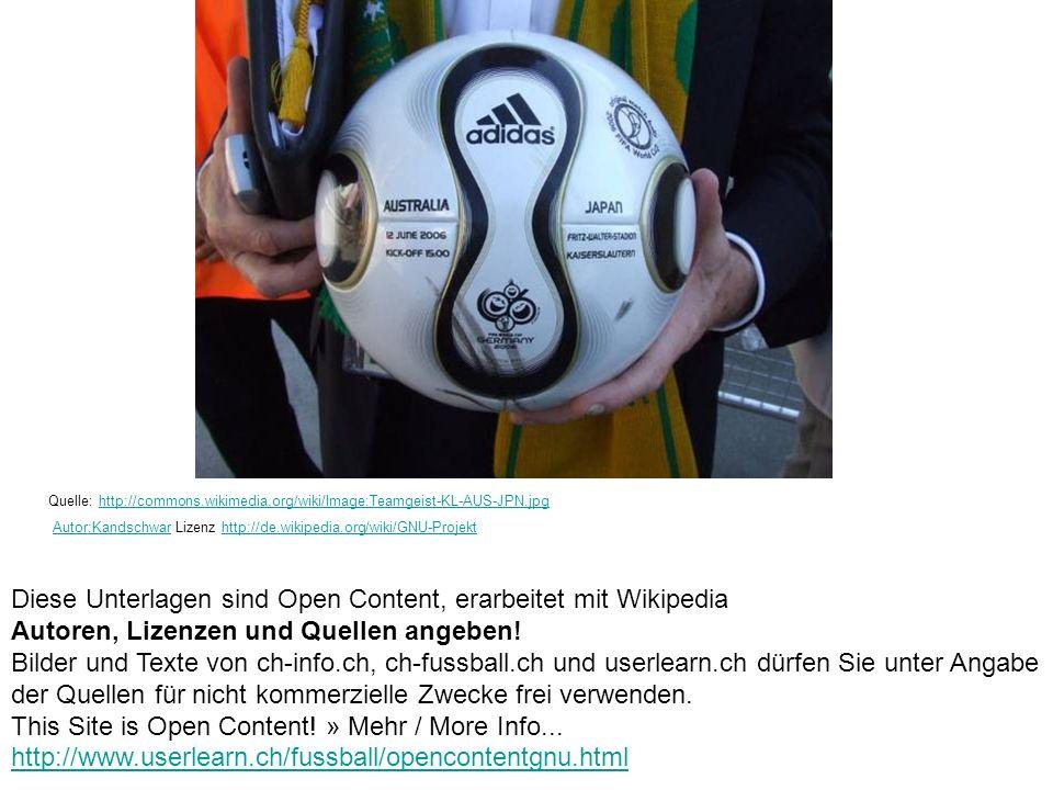 Diese Unterlagen sind Open Content, erarbeitet mit Wikipedia
