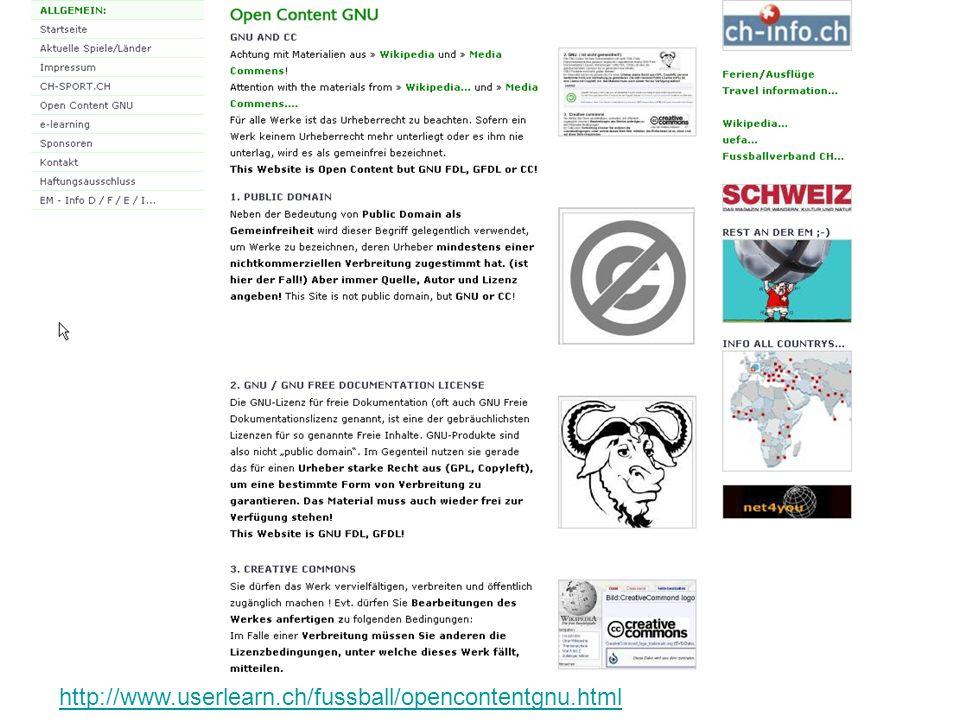 http://www.userlearn.ch/fussball/opencontentgnu.html