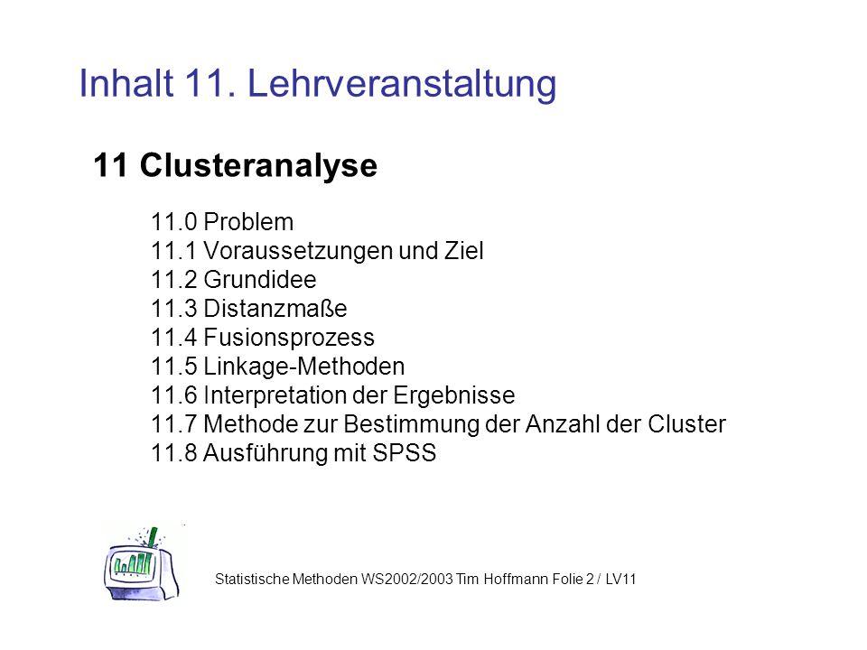 Inhalt 11. Lehrveranstaltung