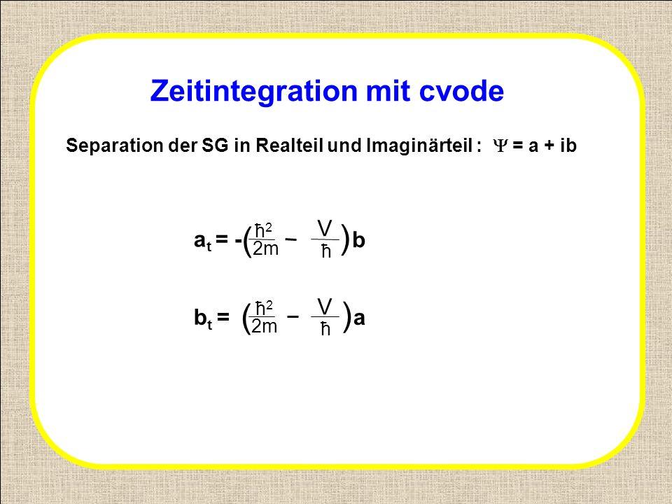 Zeitintegration mit cvode