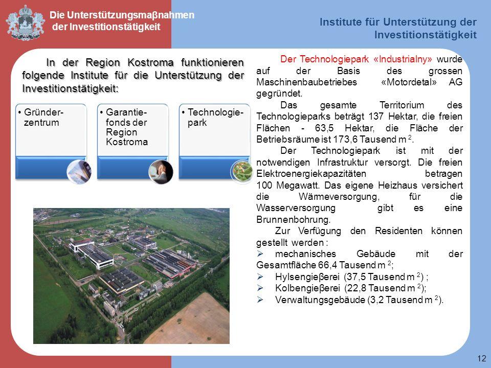 Institute für Unterstützung der Investitionstätigkeit