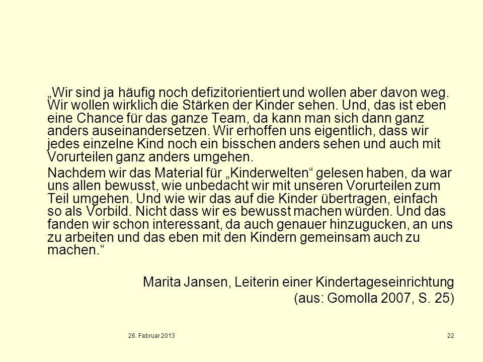 Marita Jansen, Leiterin einer Kindertageseinrichtung