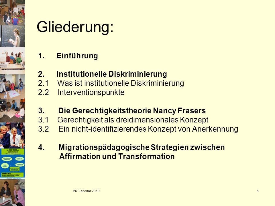 Gliederung: 1. Einführung Institutionelle Diskriminierung