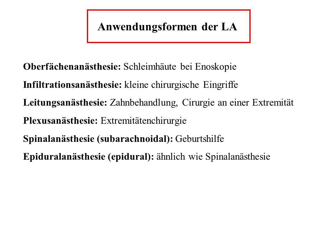 Anwendungsformen der LA
