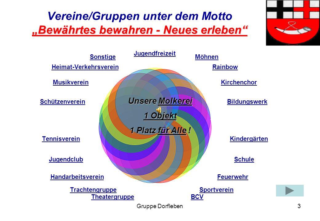 """Vereine/Gruppen unter dem Motto """"Bewährtes bewahren - Neues erleben"""