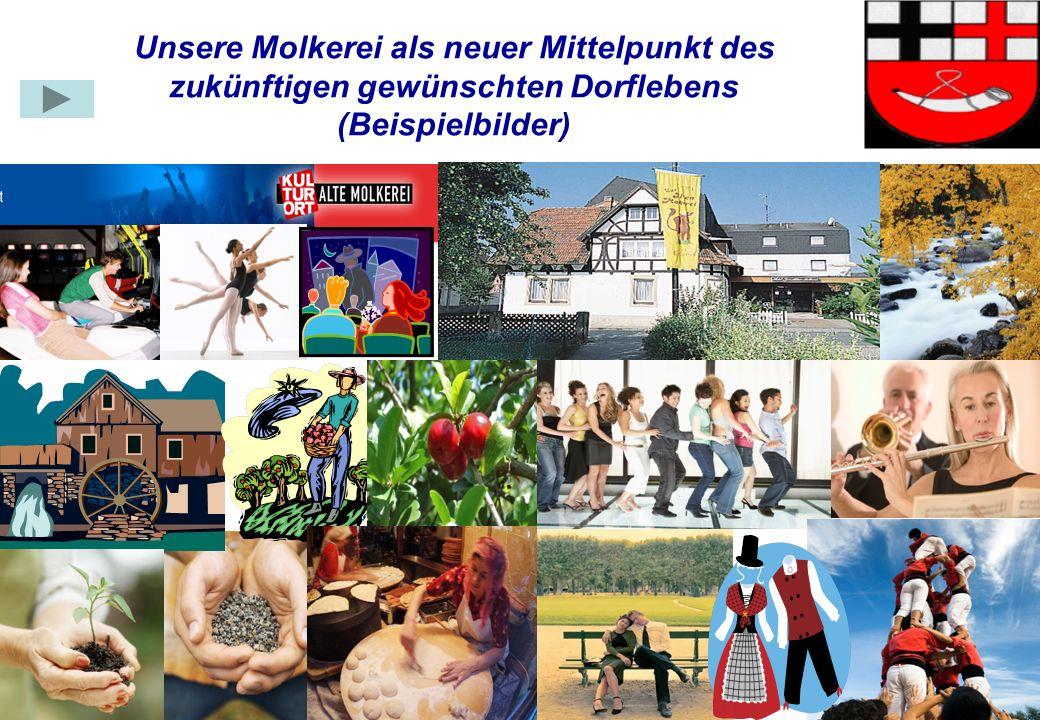 31.03.2017 Unsere Molkerei als neuer Mittelpunkt des zukünftigen gewünschten Dorflebens (Beispielbilder)
