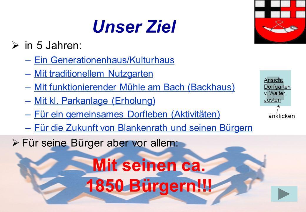Unser Ziel Mit seinen ca. 1850 Bürgern!!!