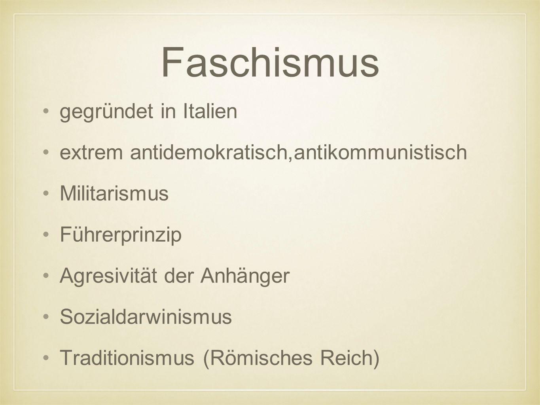 Faschismus gegründet in Italien