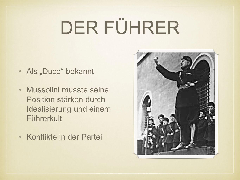 """DER FÜHRER Als """"Duce bekannt"""