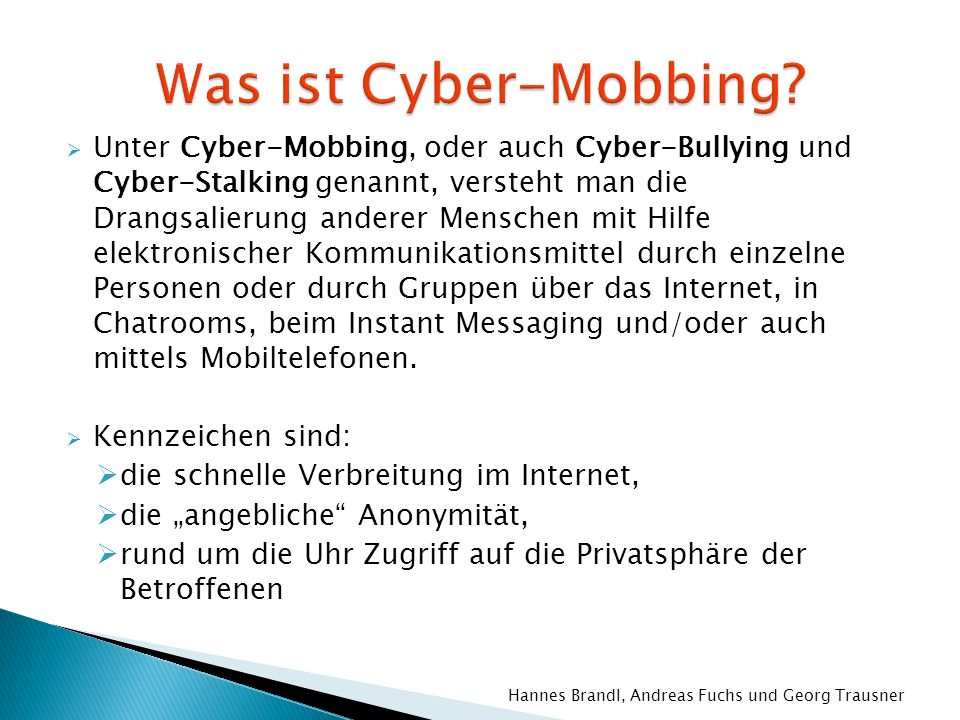Was ist Cyber-Mobbing