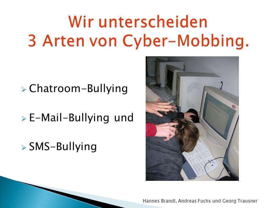 Wir unterscheiden 3 Arten von Cyber-Mobbing.