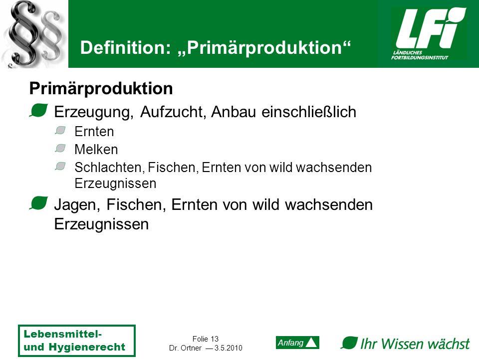 """Definition: """"Primärproduktion"""