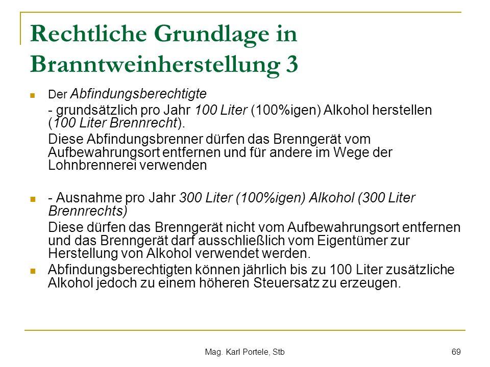 Rechtliche Grundlage in Branntweinherstellung 3