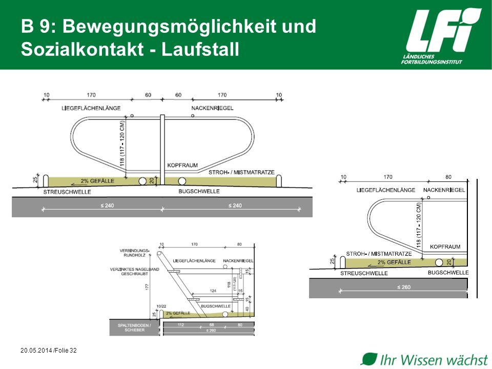 B 9: Bewegungsmöglichkeit und Sozialkontakt - Laufstall