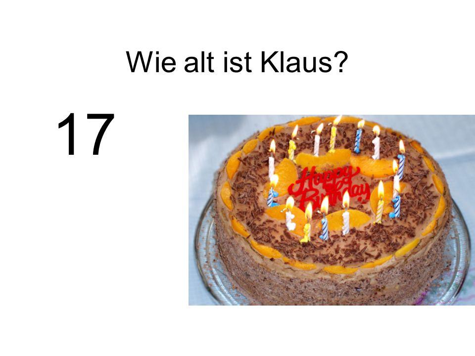 Wie alt ist Klaus 17
