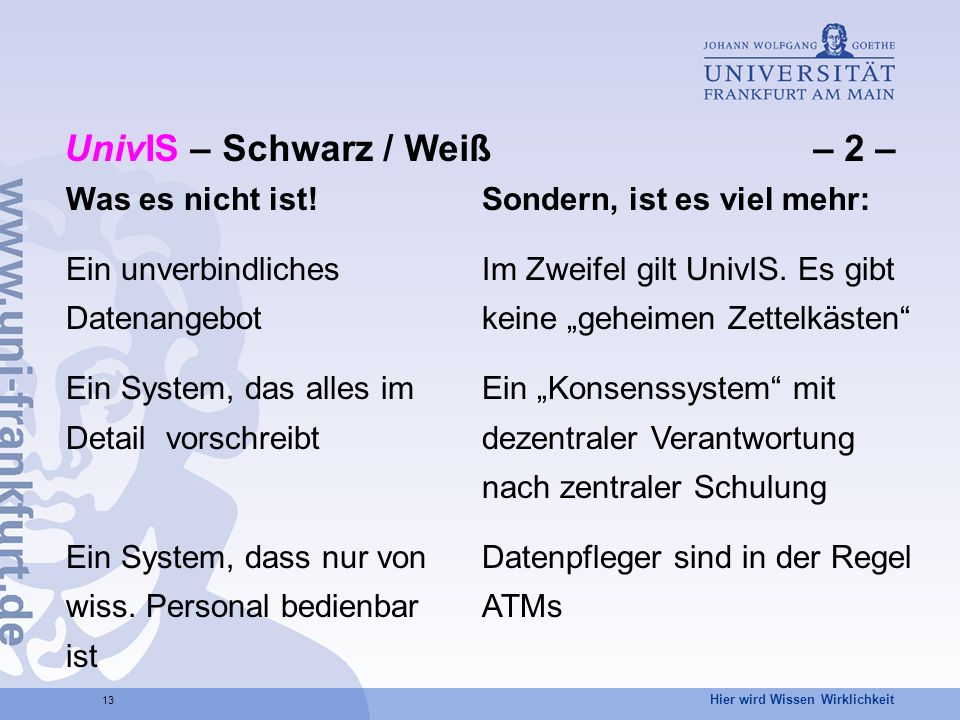 UnivIS – Schwarz / Weiß – 2 –