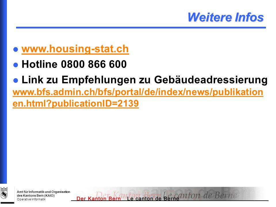 Weitere Infos www.housing-stat.ch Hotline 0800 866 600