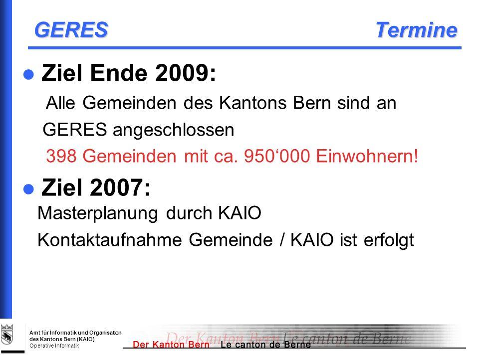 Ziel 2007: Masterplanung durch KAIO