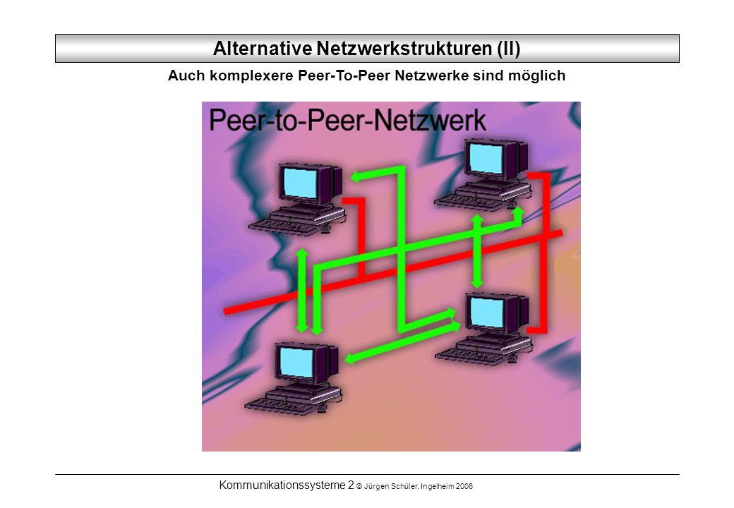 Alternative Netzwerkstrukturen (II)