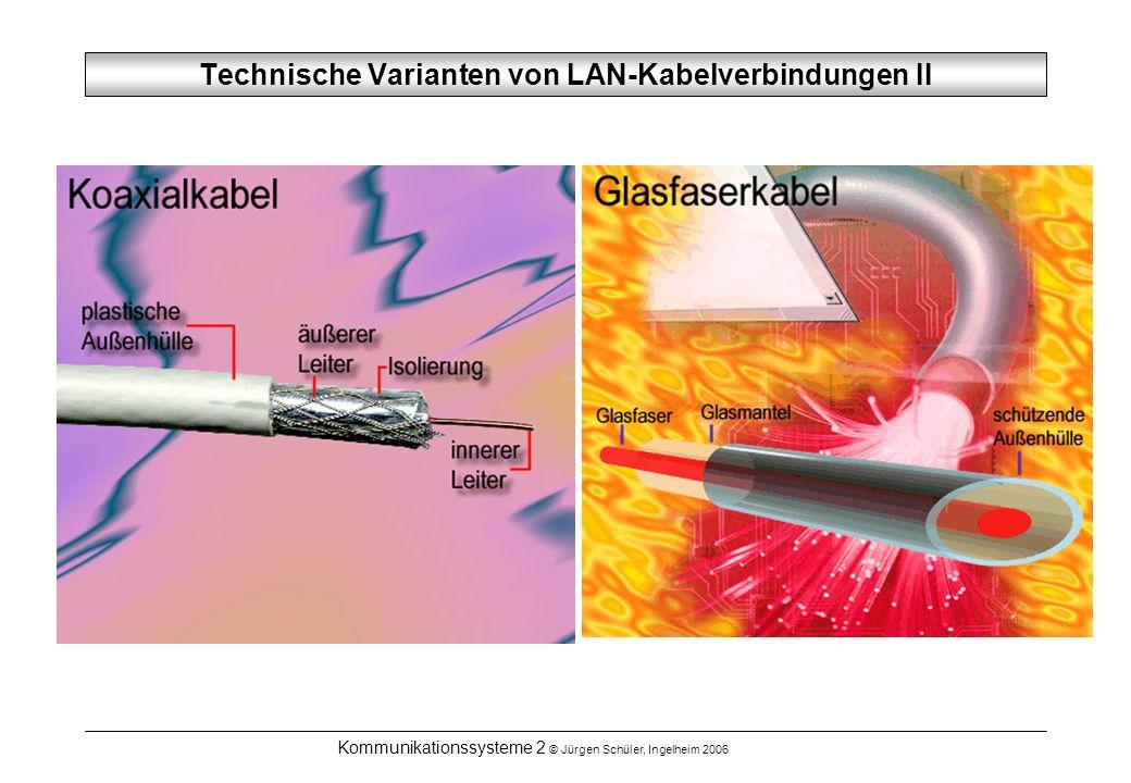 Technische Varianten von LAN-Kabelverbindungen II