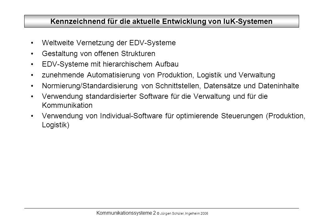 Kennzeichnend für die aktuelle Entwicklung von IuK-Systemen