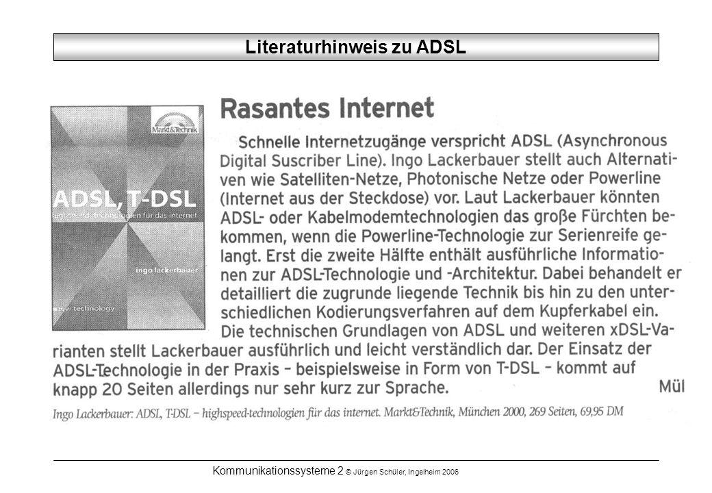 Literaturhinweis zu ADSL