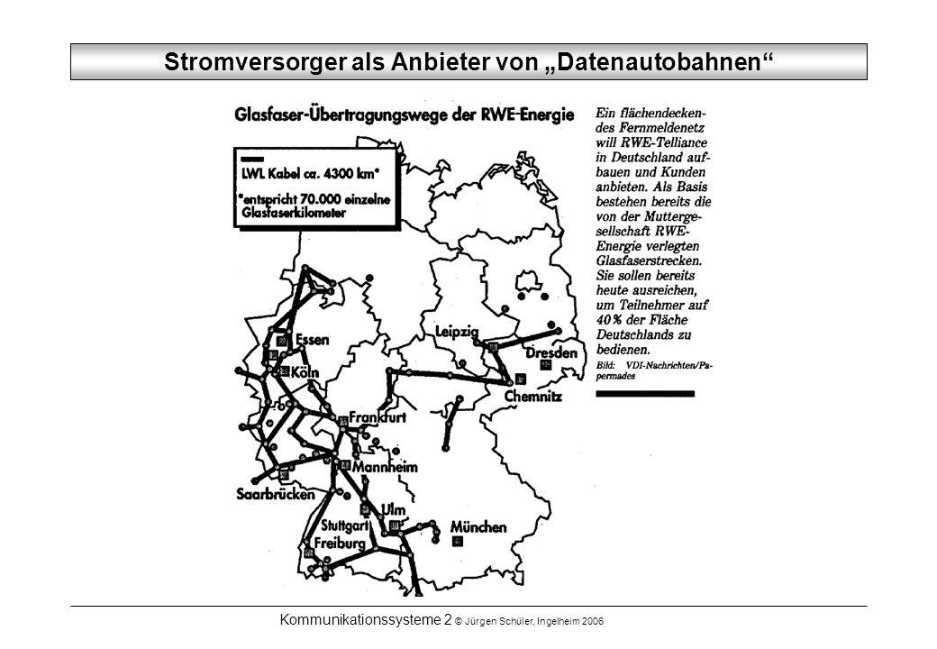 """Stromversorger als Anbieter von """"Datenautobahnen"""