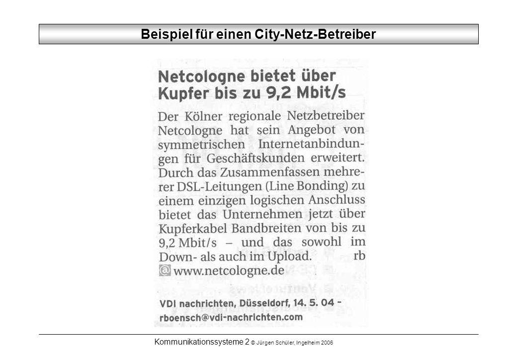 Beispiel für einen City-Netz-Betreiber