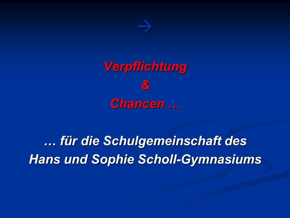 … für die Schulgemeinschaft des Hans und Sophie Scholl-Gymnasiums