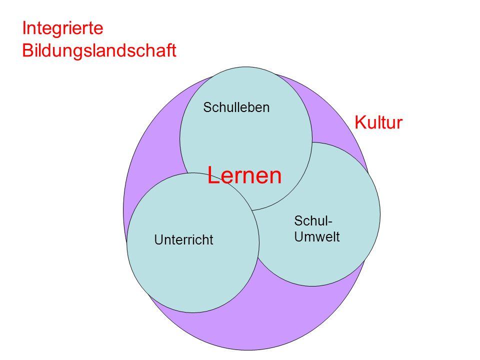 Lernen Integrierte Bildungslandschaft Kultur Schulleben Schul-Umwelt