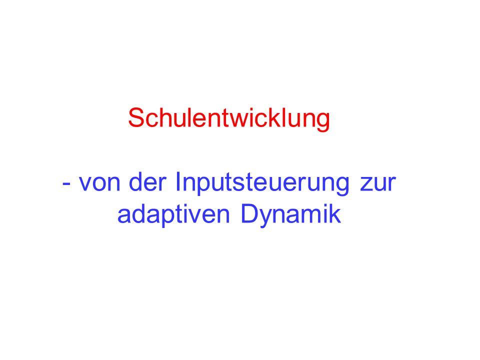 Schulentwicklung - von der Inputsteuerung zur adaptiven Dynamik